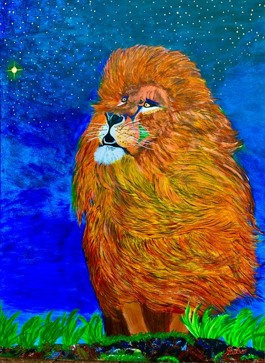 Lion in Starry Night - RuthSG