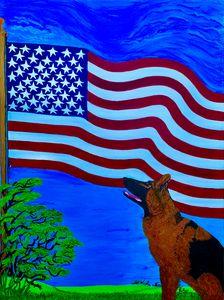 Dog faithful to his nation