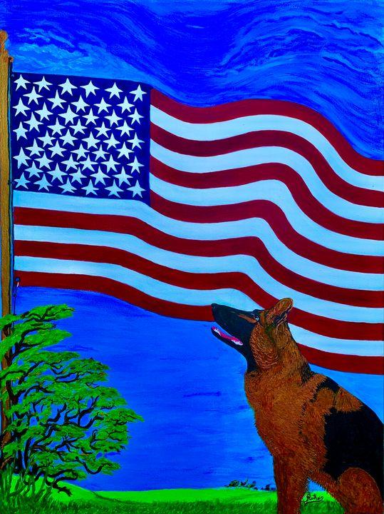 Dog faithful to his nation - RuthSG