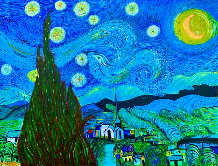 Starry Night - Noche Estrellada - RuthSG