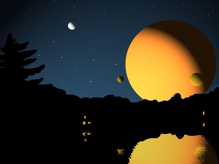 Planet horizon - Brett Paints