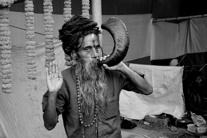INDIAN SADHU - MUKTI   ART  PHOTO 18
