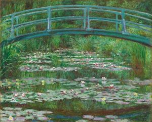 The Japanese Footbridge Claude Monet
