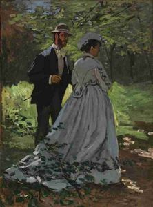 Bazille and Camille Claude Monet