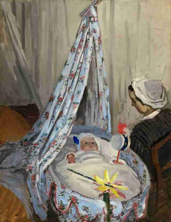 The Cradle - Camille with the Artist - GreatArt.Gallery