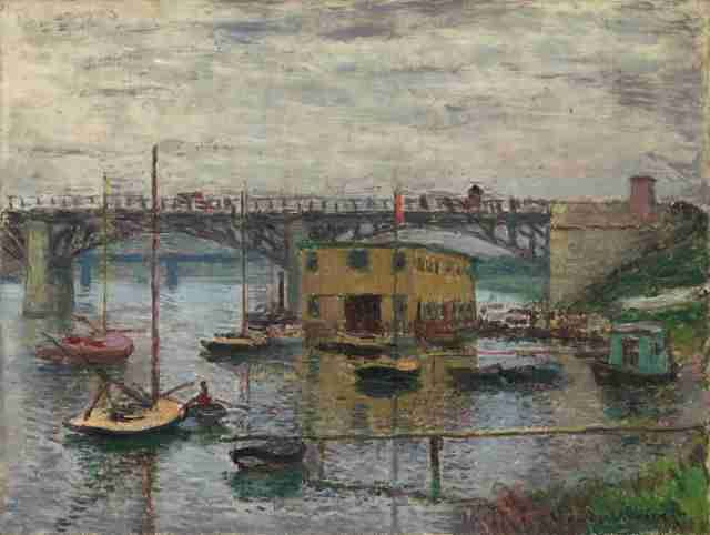 Bridge at Argenteuil on a Gray Day - GreatArt.Gallery