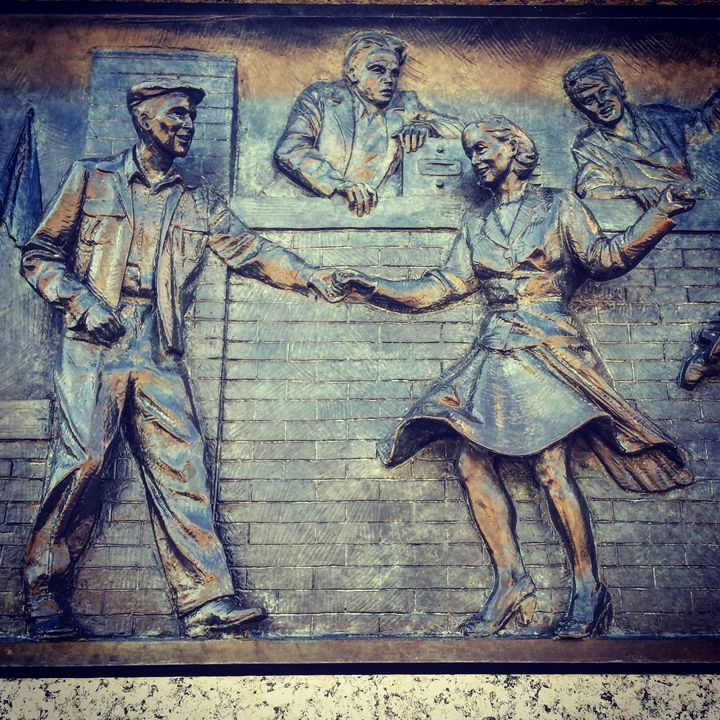 Dancing Engraving on WWII Memorial - Amanda Hovseth