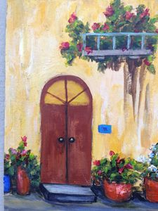 My Front door, in acrylic - Winnifred Liang
