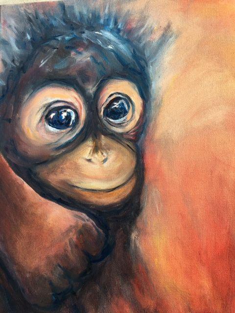 A Baby Orang Utan from Borneo - Winnifred Liang