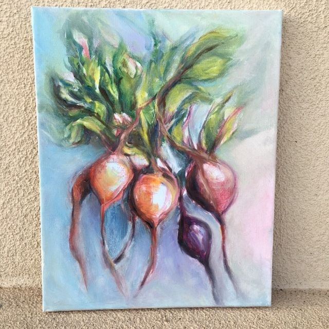 My Beets, oil on canvas - Winnifred Liang