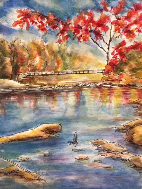 A Lake in the Fall - Winnifred Liang