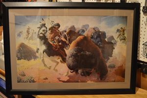 Indian Hunting Buffalo - Patterson Gallery