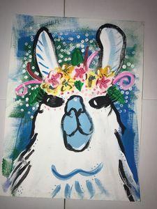 flower llama