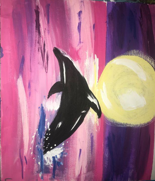 pink dolphin - Liberty Hulsey art