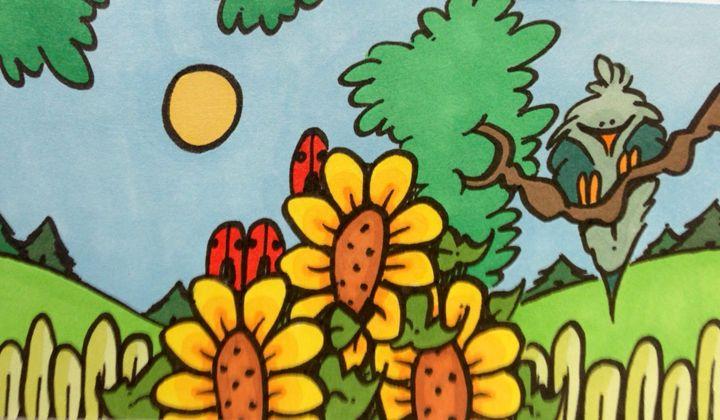 Bluebird and ladybugs - ❤️Harper