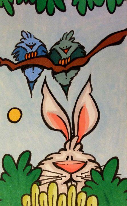 bunnie and birds - ❤️Harper