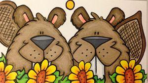 Two beavers