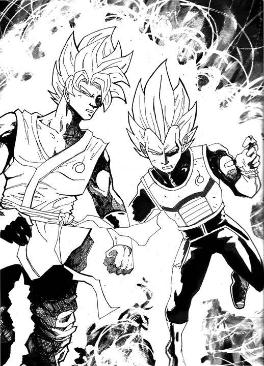 Goku and Vegeta - Foster Sketches