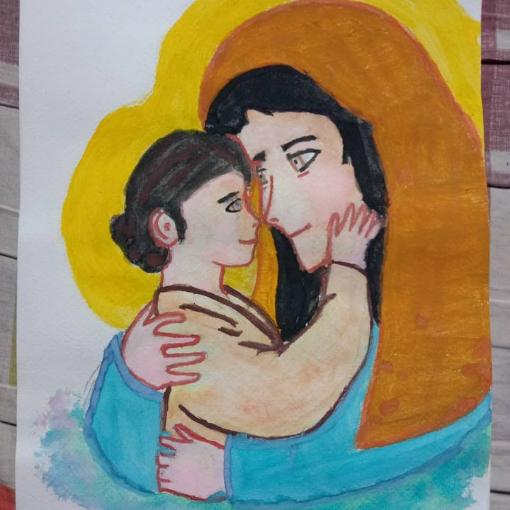 Mama Mary and Child Jesus - Artchile