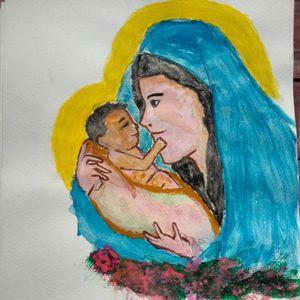 Mama Mary and Child Jesus