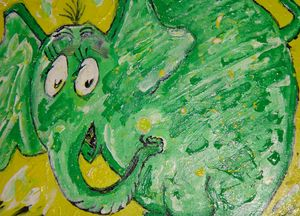 Green Elephant Lookalike to Horton