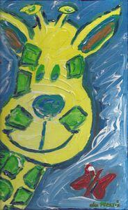 Yellow rhapsody of funky giraffe