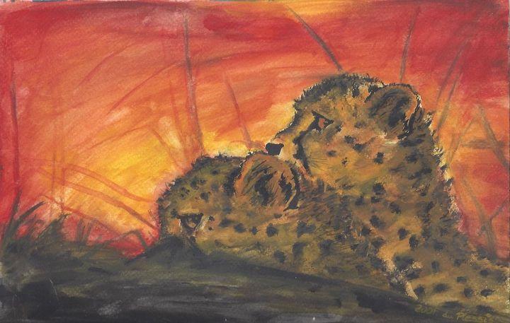 Sleepy cheetahs taking a siesta - du Plessis Magic Moments