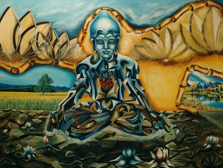 Techno-Buddha. - ARTMARINABOZIN.COM