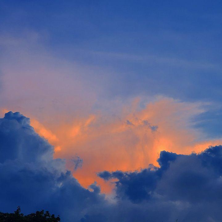 Blue & Orange Cotton Storms - AcidKat