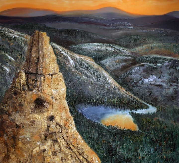 Eichorn Pinnacle in Yosemite - B Kielkowski Paintings