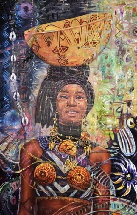 BEAUTY OF A WOMAN - Kamere Emosivbe Africa Art