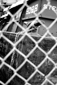 'BARGE TIEDOWN THROUGH FENCE'