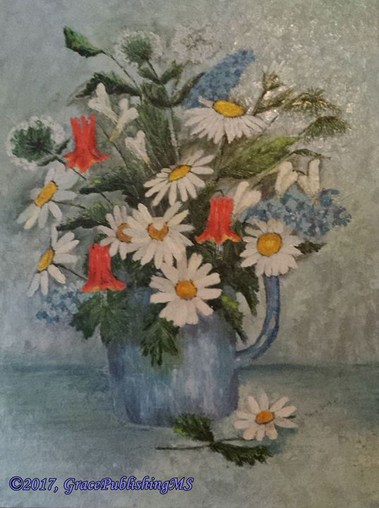 OIL ON CANVAS - DAISIES - A Place of Grace