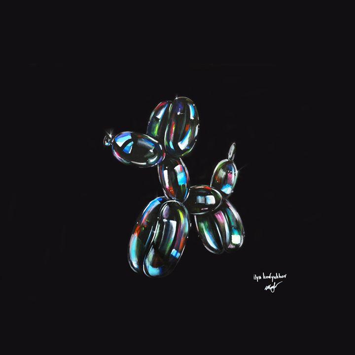 For Jeff Koons ballon dog soap bubbl - Ilya Konyukhov