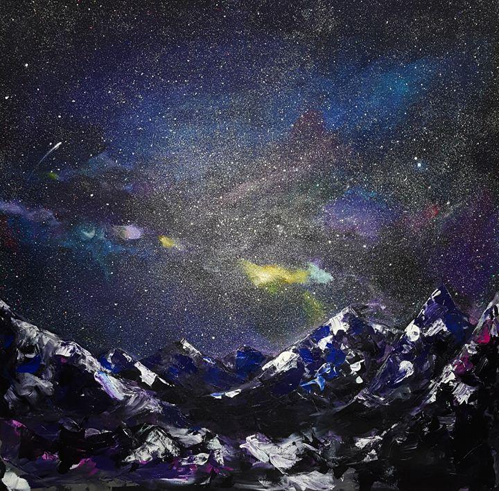 Night on mountains - Ilya Konyukhov