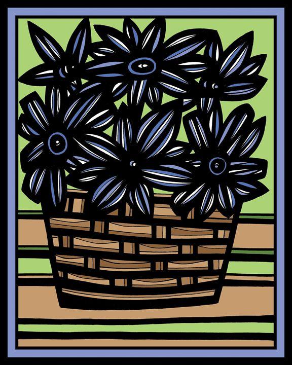Nocive Flowers Blue Green - 631 Art