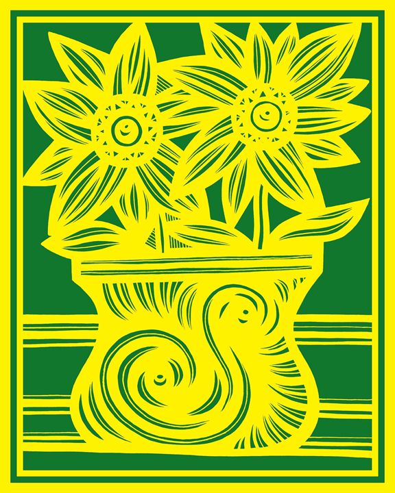 Limerence Flowers Yellow Red - 631 Art