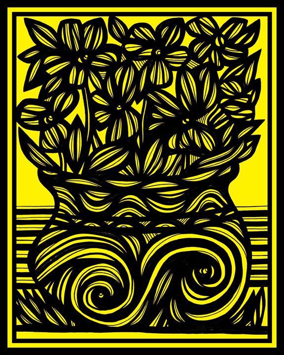 Epitaph Flowers Yellow Black - 631 Art