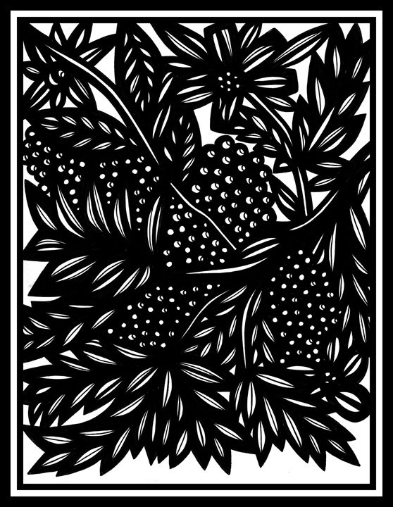 Ephemeral Flowers Black and White - 631 Art