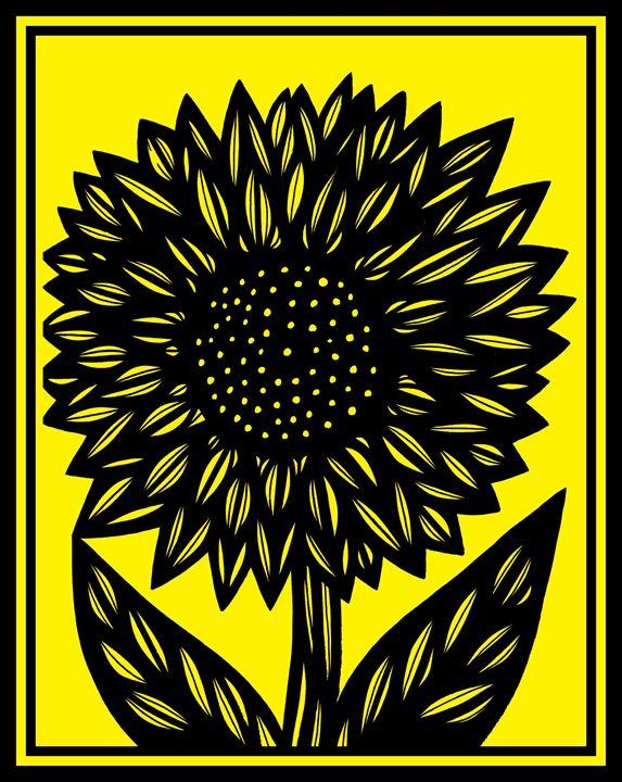 Ailurophile Flower Yellow Black - 631 Art