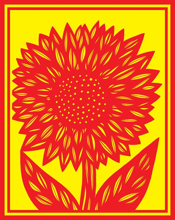 Brood Flower Yellow Red - 631 Art