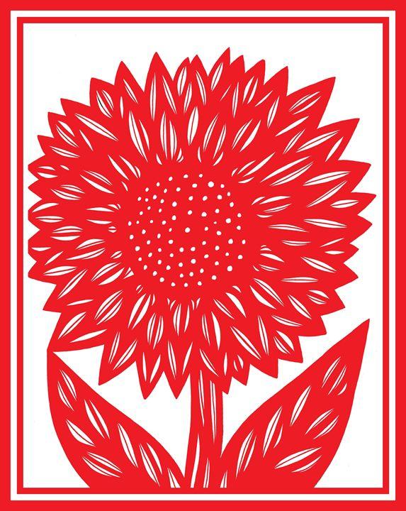 Aeneous Sunflower Red White - 631 Art