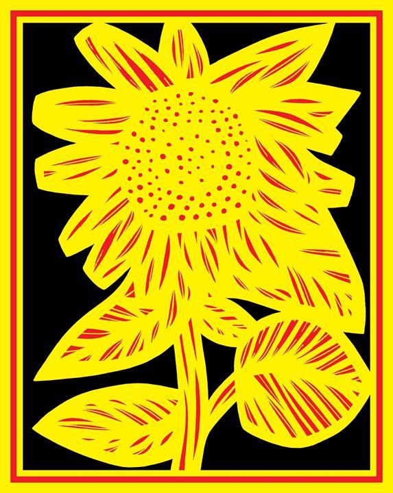Loquacious Sunflower Yellow Red Blac - 631 Art