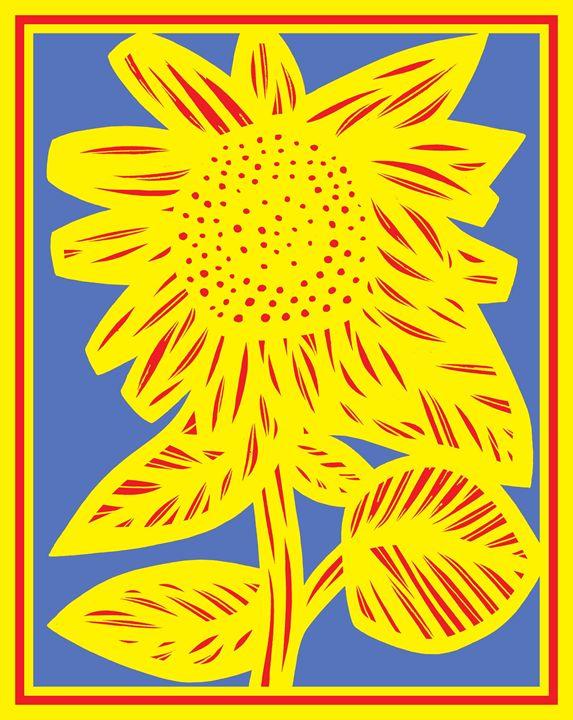 Moiety Sunflower Yellow Red Blue - 631 Art
