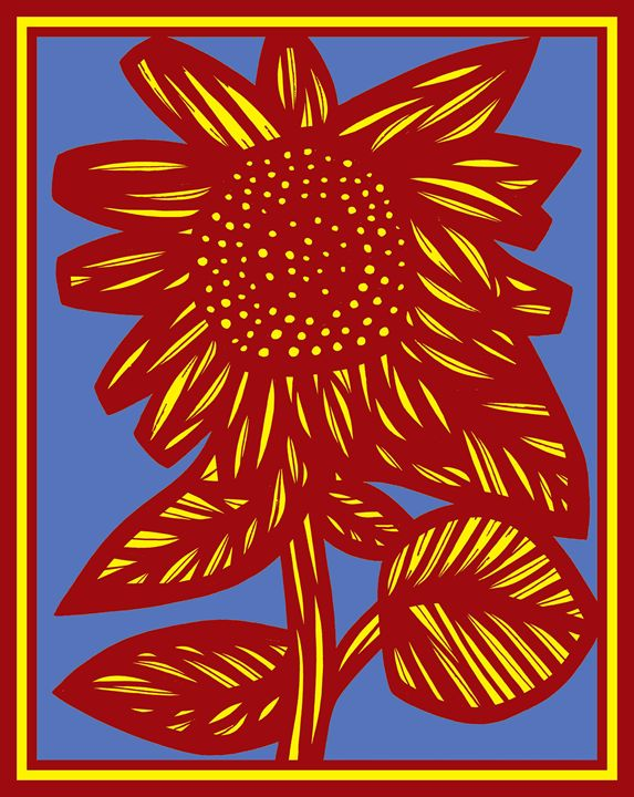 Caballero Flowers Yellow Red - 631 Art