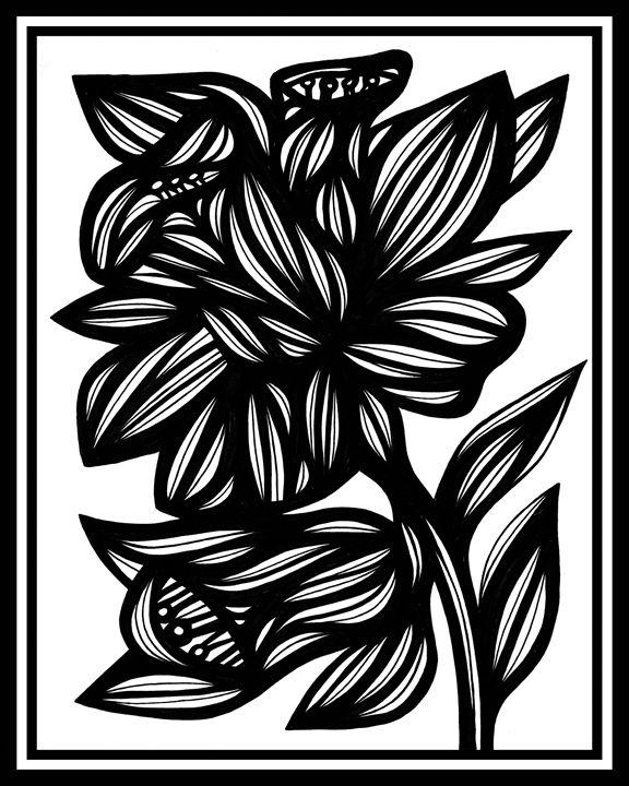 Elixir Flowers Black and White - 631 Art