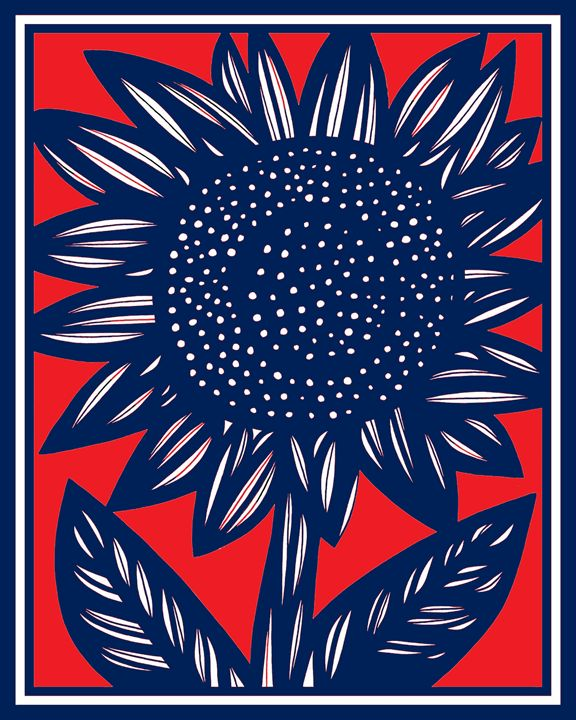 Luscious Sunflower Red Blue - 631 Art