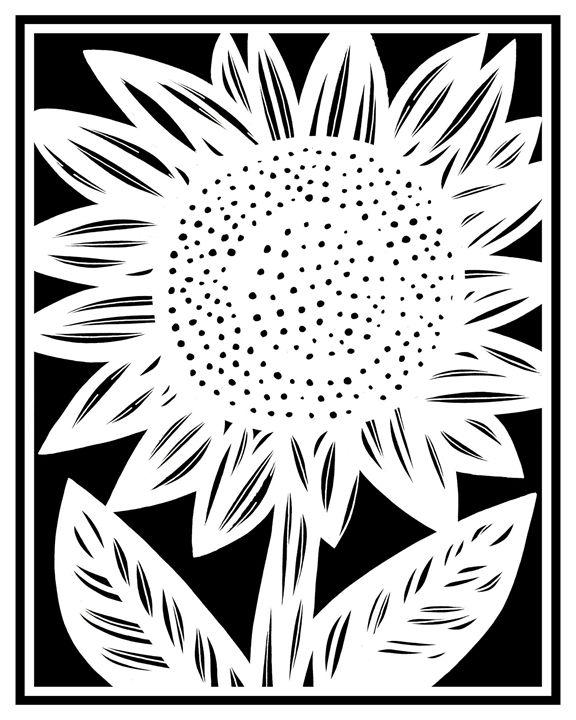 Coterie Sunflower Black and White - 631 Art