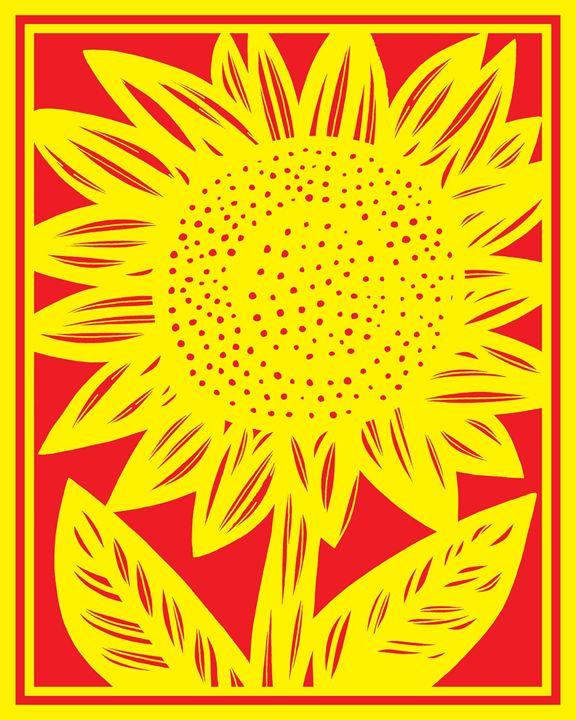 Demarche Sunflower Yellow Red - 631 Art