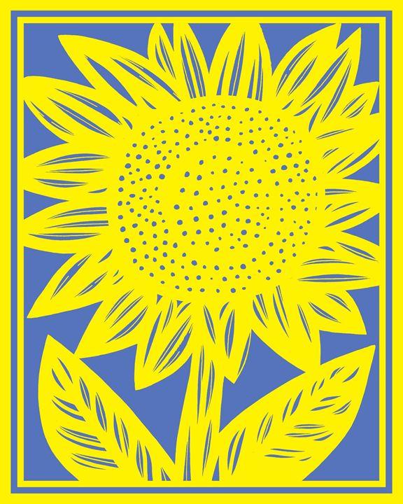 Denouement Sunflower Yellow Blue - 631 Art